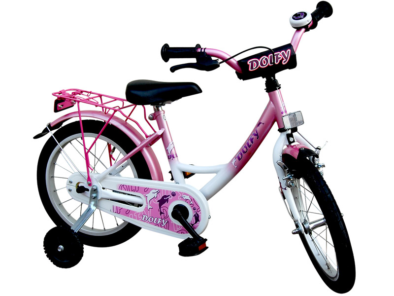 18 zoll kinderfahrrad dolfy fahrrad kinder rad rosa ebay. Black Bedroom Furniture Sets. Home Design Ideas