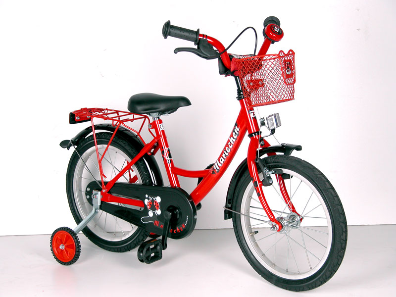 16 zoll kinderfahrrad mariechen fahrrad kinder rad rot ebay. Black Bedroom Furniture Sets. Home Design Ideas