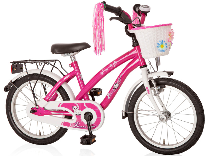 16 zoll kinderfahrrad dream cat m dchenfahrrad kinder rad ebay. Black Bedroom Furniture Sets. Home Design Ideas